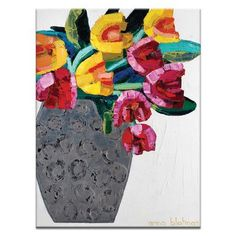 "Artist Lane Tulips 3 by Anna Blatman Painting Print on Canvas Size: 40"" H x 30"" W x 1.5"" D"