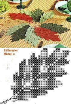 Crochet Patterns Fall Crafts: Make & Sell: How to Make Crochet Leaves - Slideit. Crochet Leaf Patterns, Crochet Leaves, Crochet Fall, Crochet Diagram, Crochet Chart, Thread Crochet, Crochet Motif, Crochet Doilies, Easy Crochet