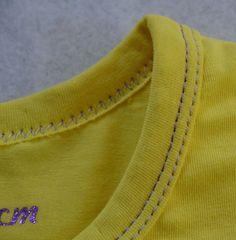 Tutoriel faire un biais jersey et le coudre autour du col