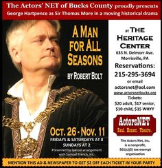 George Hartpence in A Man For All Seasons at ActorsNET