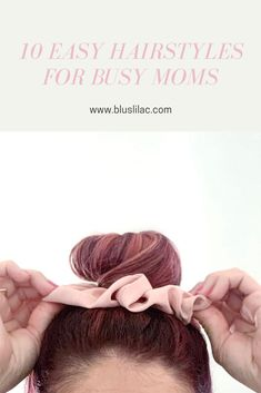 Just because you're busy with the kids doesn't mean you have to sacrifice your own style. Here are 10 easy hairstyles that will take you 5 minutes or less! Girl Hair Bows, Girls Bows, Protective Hairstyles, Cute Hairstyles, Mom Fashion, Hair Care Tips, Damaged Hair, About Hair, Mom Style