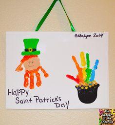 St Patrick's Day Hand prints
