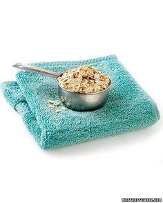 "Oatmeal    ""The best beauty fixes come from the most surprising places. Beer for your hair, anyone?  Many of today's top spa treatments take their cues from old-fashioned home remedies, and there's science to back up the ingredients' effectiveness. Take a look at our favorites.  Soothing and anti-inflammatory, oatmeal contains beta glucan, a soluble fiber that creates a thin, moisture-retaining film on the surface of the skin. Place a handful of whole oats in a clean washcloth and use a…"