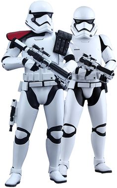 Hot Toys First Order Stormtrooper Officer and Stormtrooper  Sixth Scale Figure Set
