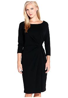 Karen Kane Indigo Bay Three Quarter Sleeve Shirred Dress - Belk.