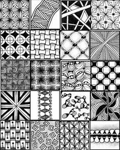Go Craft Something: ZENTANGLE PATTERN SHEETS