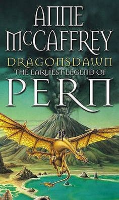 """""""Dragonsdawn"""" by Anne McCaffrey. I spent hours adoring this edition's covers of the entire Pern series. To me, that's what a Pern dragon will always look like."""