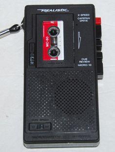 Realistic Voice Recorder Micro-Minisette Model 14-1016A #RadioShack