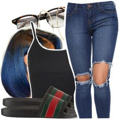 d7a80912c05d 6.23.16😉. Dope OutfitsSimple OutfitsLit OutfitsFashion OutfitsWomens  FashionSummer OutfitsGucci Flip Flops ...