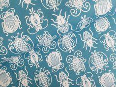 Stoff Tiermotive - Lilalotta Jersey Mosca Käfer blau türkis - ein Designerstück von LeCarrousel bei DaWanda