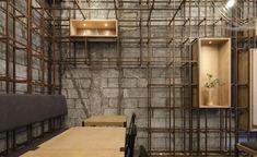 Noodle Rack restaurant, in Changsha City, China. Restaurant Design, Chinese Noodle Restaurant, Bar Interior, Interior Design, Changsha China, Café Bar, Wallpaper Magazine, Elle Decor, Restaurants