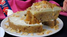 Halva, Semolina and almond Vegan cake with a special topping by Grandpa ...