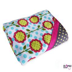 PLAID   couverture bébé pop chic douillette rose fuchsia   coton gros pois-  vert, rose, orange..toute douce et chaude -cadeau de naissance - creation  ... 50af12e059f