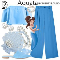 DisneyBound is meant to be inspiration for you to pull together your own outfits which work for your body and wallet whether from your closet or local mall. As to Disney artwork/properties: ©Disney Disney Character Outfits, Disney Princess Outfits, Disney Themed Outfits, Disney Bound Outfits, Princess Theme, Disney Dresses, Mermaid Princess, Disney Clothes, Little Mermaid Outfit