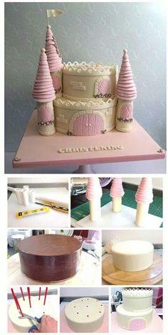 diy bolo castelo princesas