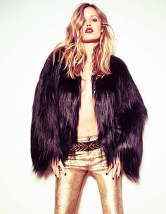 London Calling – Jacques Dequeker captures model Georgia May Jagger in British inspired ensembles for the April cover shoot of Elle Brazil. Juliana Maia styles the blonde beauty in flamboyant ensembles including a mix and match of leather, denim, sequins and flannel. Georgia shows off the looks in motion with a Cavallaria film featured below.