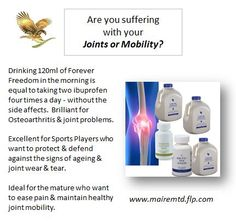 #jointmobility #arthritis #health #wellness #ForeverLiving To order:  www.mairemtd.flp.com