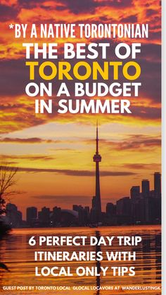 Visiting Toronto on a budget? Read about six cheap urban adventures by a native Torontonian and insider only tips for exploring Ontario's capital like a local. Visit Toronto, Toronto Travel, Ontario Travel, Toronto Canada, Toronto Tourism, Quebec Montreal, Quebec City, Vancouver, Banff