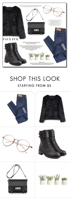 """""""Faux Fur Coats"""" by alinnas ❤ liked on Polyvore featuring Cheap Monday, Chicwish, Philosophy di Lorenzo Serafini, Proenza Schouler, Allstate Floral and fauxfurcoats"""