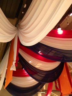 Dutch Flag drapes, handmade @ party location