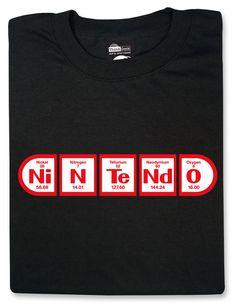 Periodic NiNTeNdO t-shirt