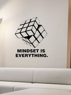 Rubik's Cube Wall Decal MINDSET vinyl Sticker Art Decor Bedroom Design Mural interior design Science Education Art educational The Effective Pictures We Offer You About Art Education grade A quali Vinyl Art, Vinyl Wall Decals, Wall Stickers, Sticker Vinyl, Office Wall Graphics, Office Wall Design, Monospace, Poster Design, Co Working