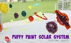 Puffy paint solar system from School Time Snippets