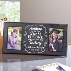 Commemorate your loved one's special day with the help of this personalized photo frame.Shipping note: This item will be personalized just for you. Allow extra time for your special find to ship. Phd Graduation Gifts, Graduation Year, Graduation Pictures, Graduation Frames, Thank You Gift For Parents, Diploma Display, Student Photo, School Photos, School Gifts