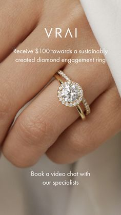 Enjoy $100 towards your engagement ring when you book a virtual appointment with one of our diamond experts. Skip the middle-man markups and discover sustainably created diamonds direct from our foundry, the first to be certified with zero carbon footprint. Love Ring, Dream Ring, Irish Wedding, Dream Wedding, Cute Engagement Rings, Wedding Jewelry, Wedding Rings, Green Diamond, Diamond Are A Girls Best Friend
