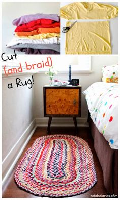 ReFab Diaries: Upcycle: Old t-shirts - New rug!
