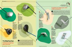 Clubs for Golf Digest Layout Design, Print Design, Graphic Design, Editorial Layout, Editorial Design, Andrew Myers, Grid, Typography Magazine, Magazine Design