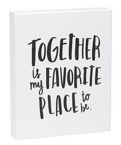 'Favorite Place' Box Sign