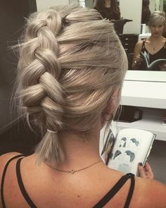 Rustic Dutch braids can look cool on short hair too #braid#girl#hair#hairdresser#hairstylist#hairart#follow#like#mirror#model#pristine#inspiration#motivation#shorthair#love#life#work#hairups#rustic#mphosis#behindthechair@behindthechair_com