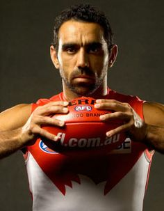 Adam goodes is a great sportsman and he is playing for the Sydney swans he has played 331 games for the swans he plays centre half forward