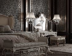 "Check out new work on my @Behance portfolio: ""Classic palace. Bedroom"" http://be.net/gallery/49258761/Classic-palace-Bedroom"