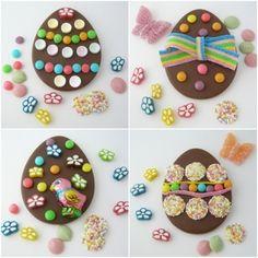 Pretty easter chocolate eggs