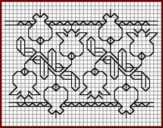 Japanese Embroidery Patterns Blackwork Lilies of the Valley? Kasuti Embroidery, Folk Embroidery, Japanese Embroidery, Hand Embroidery Stitches, Embroidery Techniques, Cross Stitch Embroidery, Embroidery Patterns, Machine Embroidery, Ribbon Embroidery