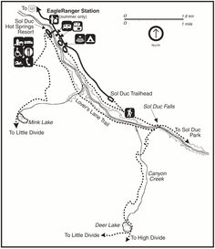 Image Result For Olympic National Park Camping Map
