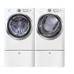 Electrolux 5.1 cu. Ft. Wave-Touch Steam Front-Load Washer & 8.0 cu. Ft. Steam Electric Dryer - White
