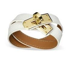 Image from http://addictionclothing.net/wp-content/uploads/2013/03/Hermes_White_Leather_Kelly_Double_Tour_Bracelet_with_Gold_Buckle.jpg.