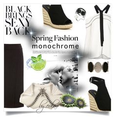 """""""Make it Monochrome  TOPSET 5-5-2016"""" by eula-eldridge-tolliver ❤ liked on Polyvore featuring Vince, Proenza Schouler, Prada and Alexander McQueen"""