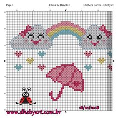 This Pin was discovered by Seb Baby Cross Stitch Patterns, Cross Stitch For Kids, Cute Cross Stitch, Baby Knitting Patterns, Cross Stitch Designs, Cross Stitch Embroidery, Tapestry Crochet, Crochet Chart, Plastic Canvas Patterns