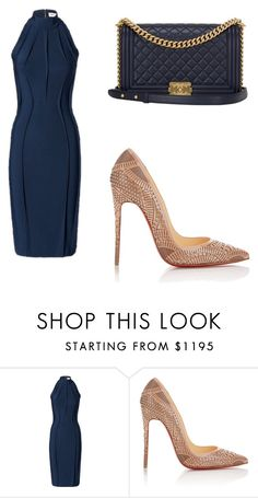 """<3"" by martina-vacca ❤ liked on Polyvore featuring Thierry Mugler, Christian Louboutin and Chanel"