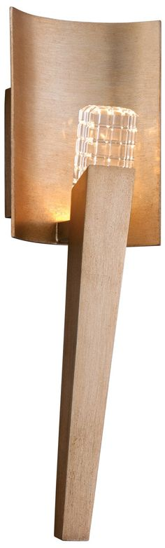 Stiletto Faceted Crystal Champagne Corbett Wall Sconce - EuroStyleLighting.com