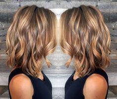 Bildresultat för ljusa slingor i brunt kort hår
