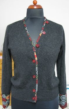 Strickjacke (Pullover-Recycling)