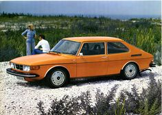 Reminds me of our 1974 Saab, even the same color!!  SAAB 99 Combi Coupe (1974).