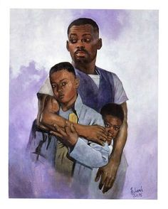 Image detail for -... paper size 22x28 an african american father and his two sons price