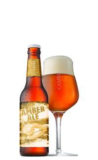 Camba Amber Ale in Glas und Flasche