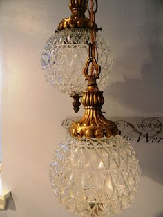 Chandelier Double Swag Hollywood Regency Style